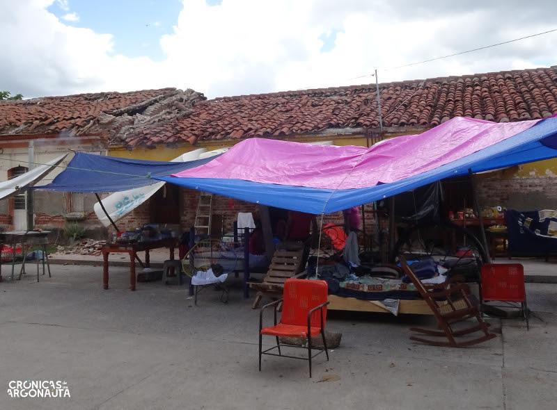 Casa derrumbada en Ixtepec
