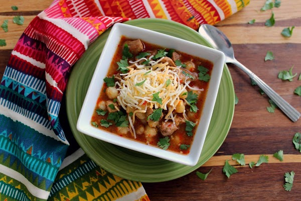 Serve the pozole with the following optional toppings: shredded cabbage, lime wedges,  chopped...