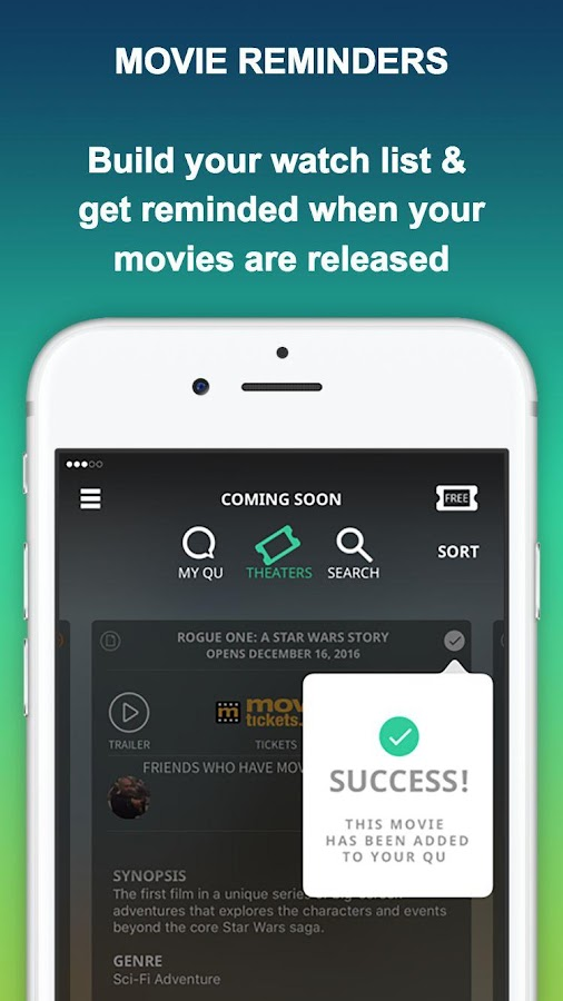 MOVIEQU: Upcoming Movies & Tix- screenshot