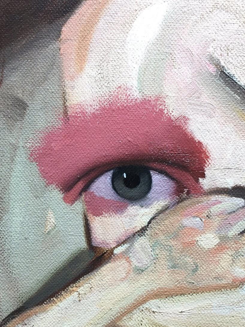 Ojos realistas agrupados en llamativos retratos abstractos por Emilio Villalba