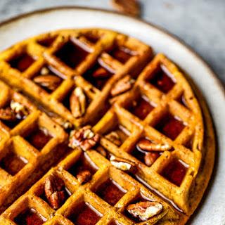 Healthy Whole Wheat Pumpkin Waffles.