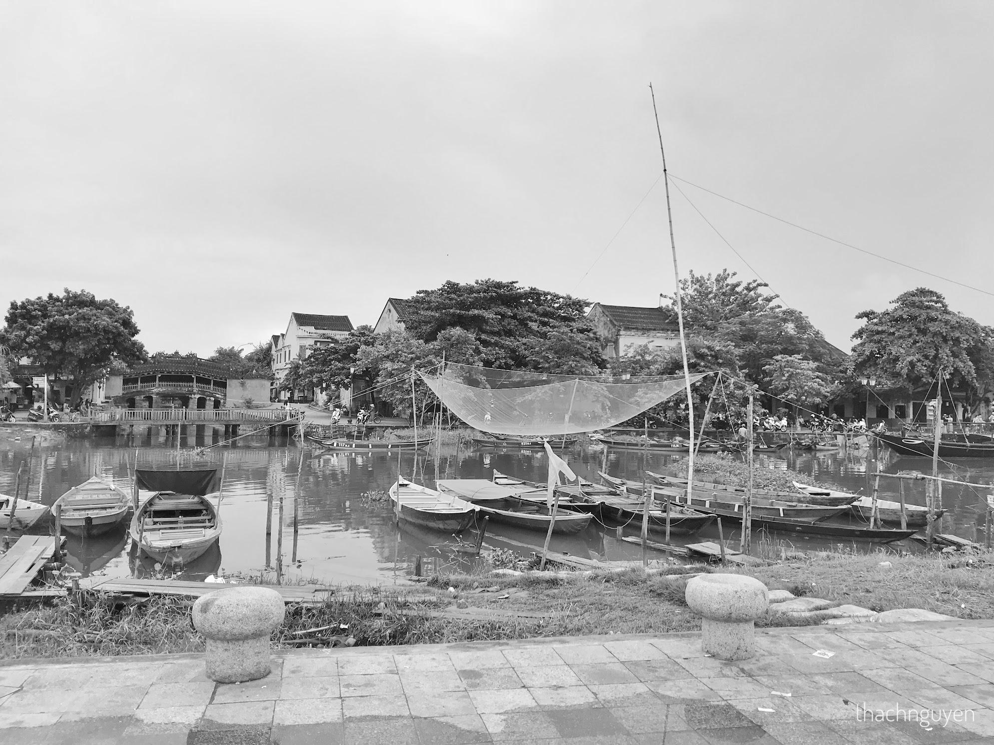lưới đánh cá trên sông hoài hội an
