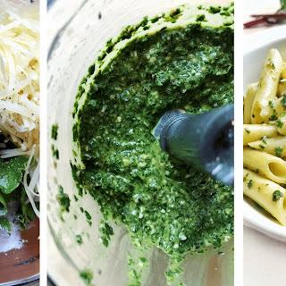 Beet Green Pesto Pasta.