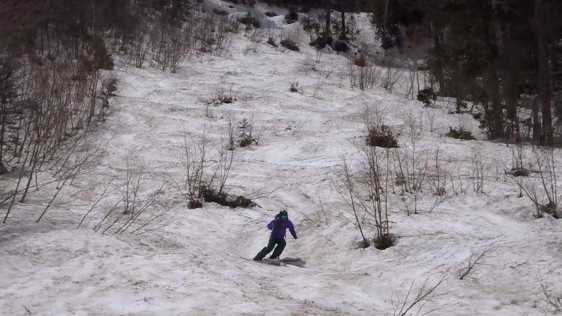 【乗鞍岳バックカントリー】スキー滑走⑥