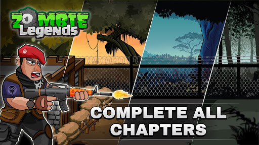 Bối cảnh đa dạng trong game Zombie Legends