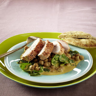 Tandoori Chicken with Chickpeas and Spinach
