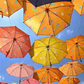Flying Umbrellas by Kinga Urban - Artistic Objects Other Objects