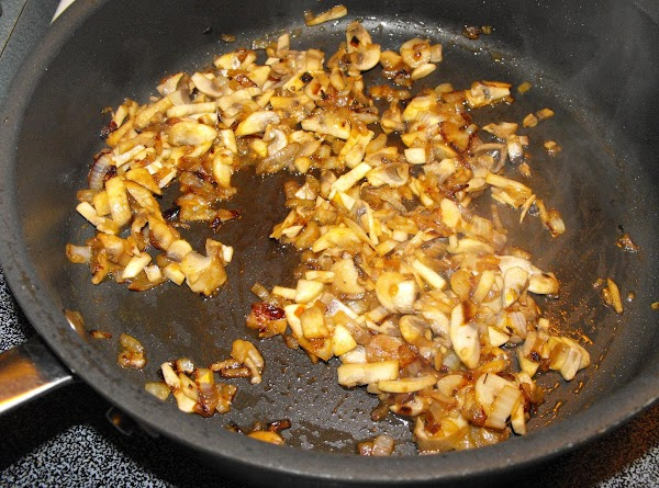 Cook diced onions in skillet for 5 minutes, and then add in mushrooms, cook...