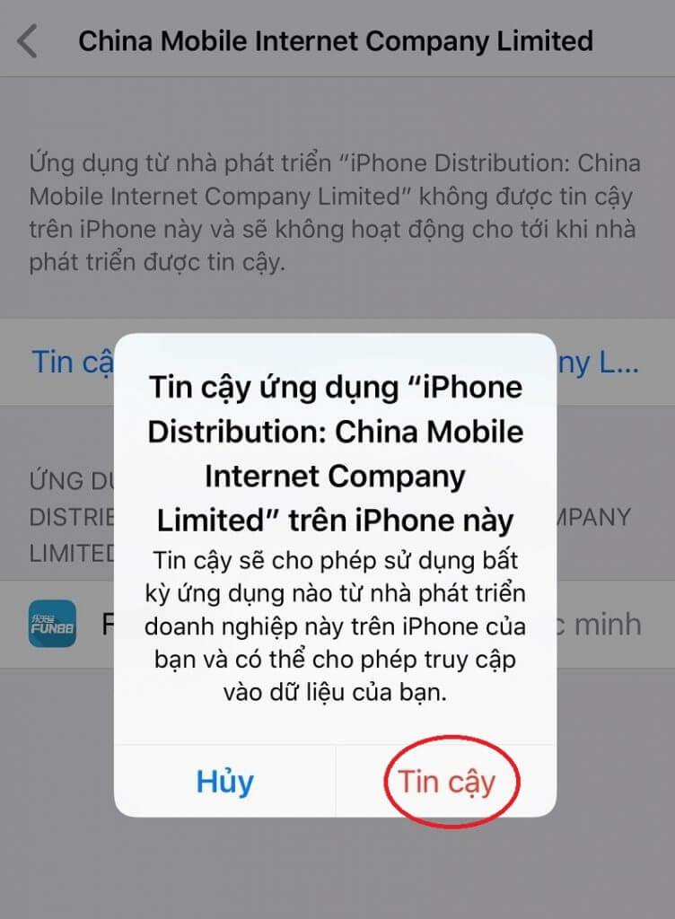 Cài đặt Fun88 App Iphone