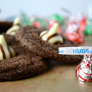 Chewy Chocolate Cookies with Hershey's Hugs