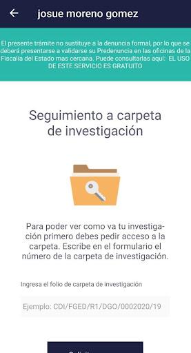 Servicios Virtuales de la Fiscalía de Durango screenshot 3