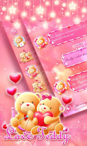 (FREE) GO SMS LOVE TEDDY THEME Screenshot