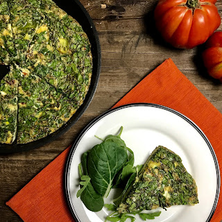 5 Ingredient Sun-dried Tomato & Spinach Frittata.