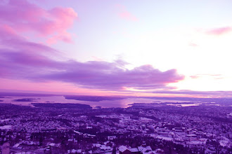 Photo: Winter Sky from Norway  ノルウェーの冬空
