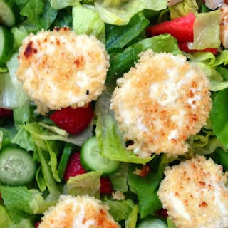 Grilled Chicken and Goat Cheese Salad with Strawberry Vinaigrette.