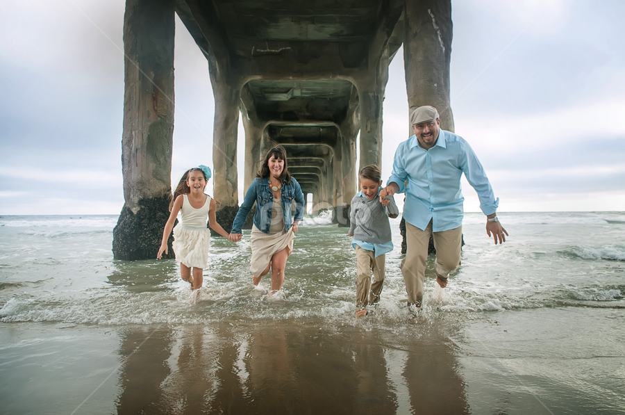 by Jay Andrino - People Family ( dad with kids, mom with kids, holding hands )