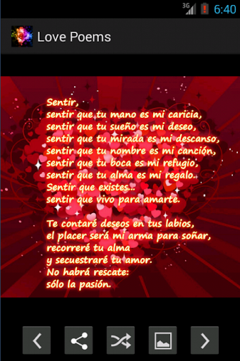 Love poems in Spanish