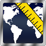 Maps Distance Ruler Lite Icon