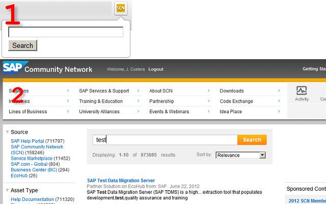 SAP Community Network Search