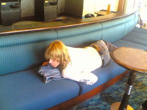 Photo: Fons op ferry, beetje, ligt toch nie zo gemakkelijk 2006