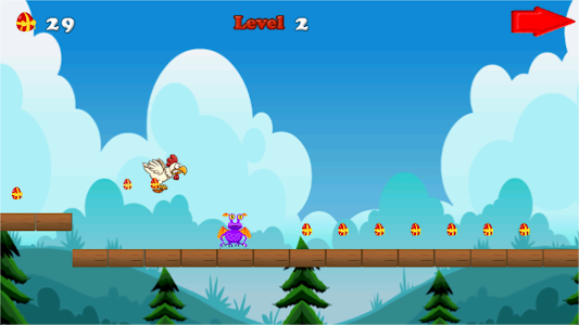 Angry chicken-Super run screenshot 3
