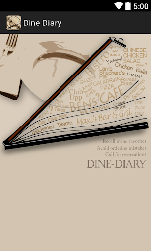 Dine-Diary for foodies