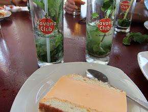Photo: Orrange ice-cream cake and mojitos.  Perfick!