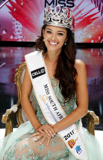 A radiant Demi-Leigh Nel-Peters has been crowned Miss South Africa 2017 Picture: Supplied