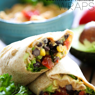 Southwest Hummus Wraps.