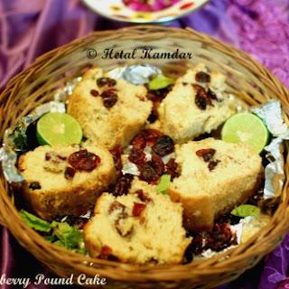 Lemon Cranberry Pound Cake Recipe