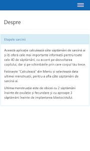 Etapele sarcinii screenshot 5