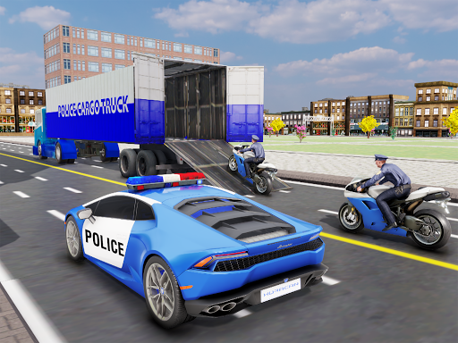 US Police Transporter Plane Simulator screenshot 14