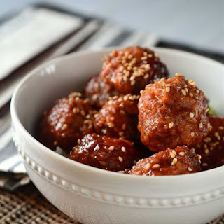 Slow Cooker Sweet Thai Chili Meatballs