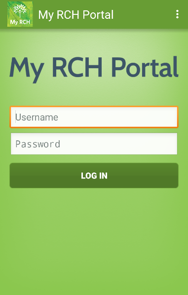 My RCH Portal- screenshot