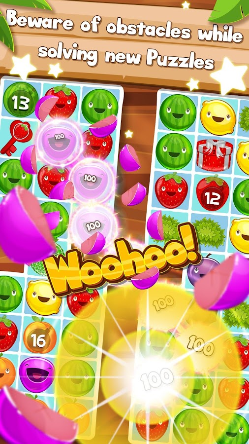 Fruit Pop! Puzzles in Paradise- screenshot
