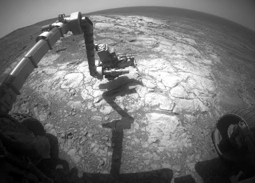 Mars Rover Opportunity Examines Bright Athens