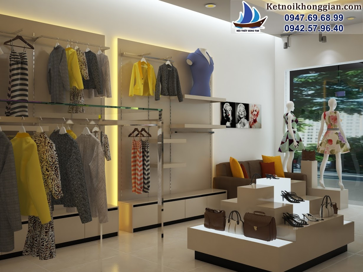 thiết kế shop thời trang nữ đẹp nhất miền bắc