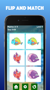 Fish World - Ocean Memo Match for kids & toddlers - náhled