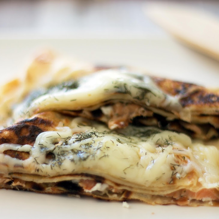 Smoked Salmon and Goat Cheese Crepes