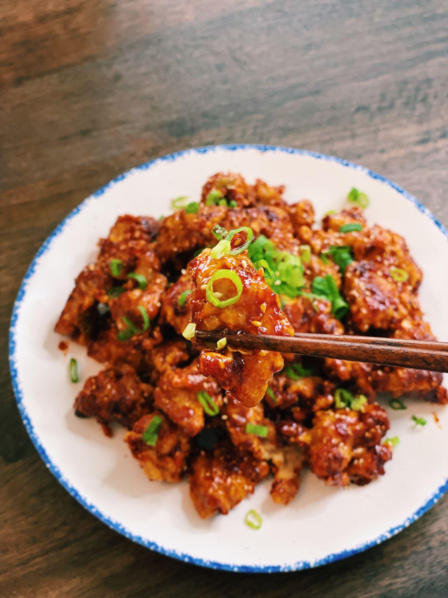 Spicy Honey Garlic Chicken (viral recipe!)