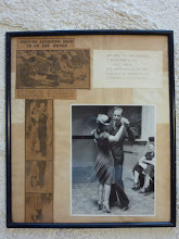 Photo: A scene from 1939 ISTD Congress (1/3) Newspaper clips and photo mounted in a frame. 1939年のISTDコングレス模様。新聞の切抜きと写真が額に入っています。