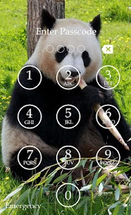 Panda Keypad Lock Screen Skin screenshot