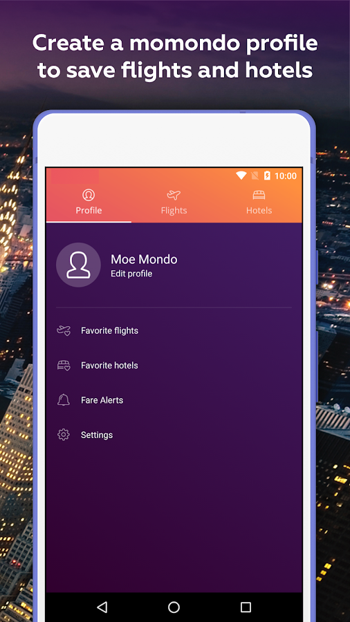 Cheap Flights & Hotels momondo- screenshot