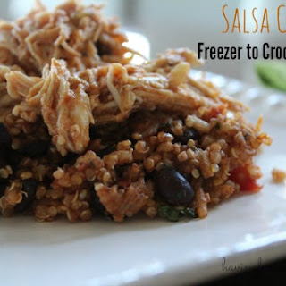 Creamy Salsa Chicken - Freezer to Crock Pot Meal