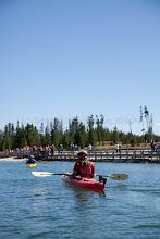 Photo: Sea kayaking on Yellowstone Lake in Yellowstone National Park, WY.