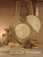 Photo: cuore shabby sewing, con stitchery tilda