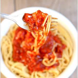 Chicken Spaghetti Sauce Crock Pot Recipes.