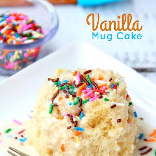 Easy Vanilla Mug Cake.