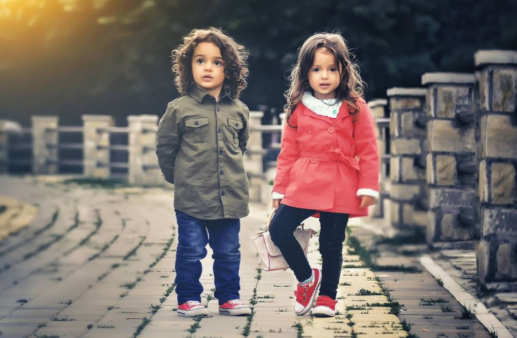 two kids