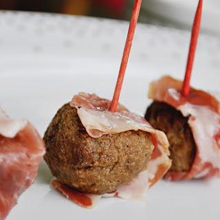 Prosciutto-Wrapped Turkey Meatballs